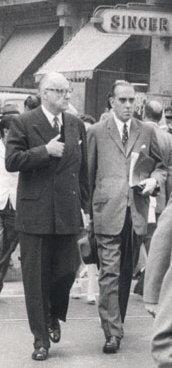 Don Hugo Rosende Subiabre y el Presidente Jorge Alessandri, 1962