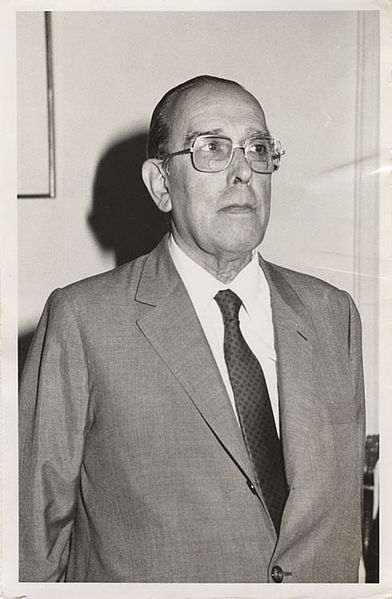 Don Hugo Rosende Subiabre, Ministro de Justicia, 1984